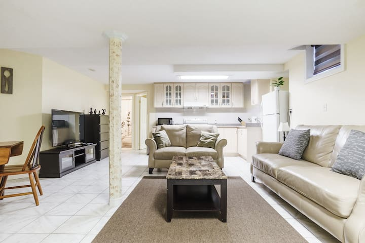 Immaculate Basement Appt Private