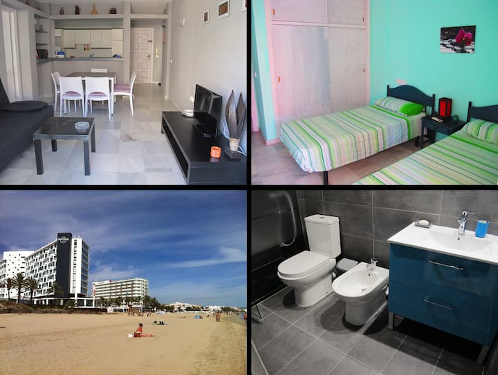 Apartment 6-8pax Playa den Bossa near Ushuaia