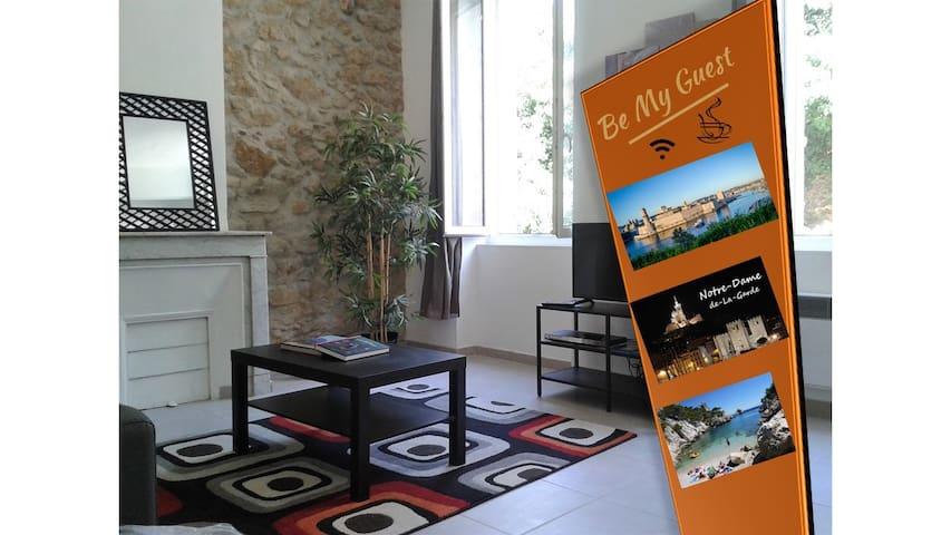 Apartment renovated, quiet and brigth -Albe Street - Marseille - Apartment