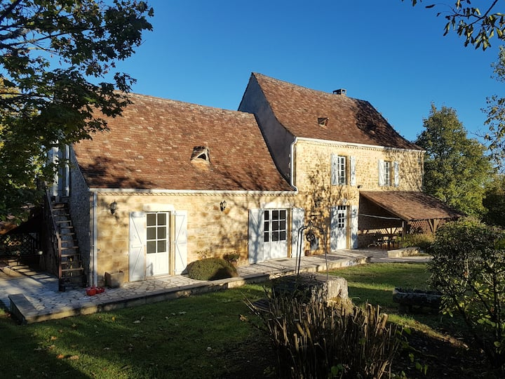 Charming House Sarlat/rocamad.Aic Cond.Heated pool