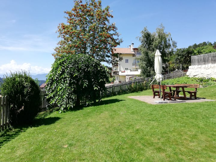 Rustic Holiday Apartment Latemar-Haus Schlossberg with Terrace & Mountain View; Parking Available, Pets Allowed
