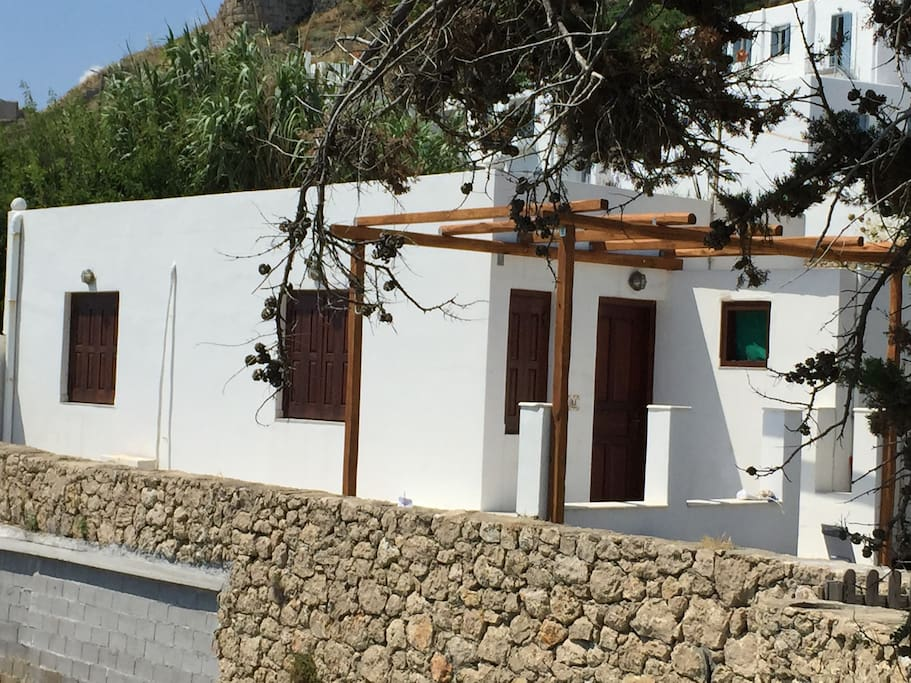 The beach front house on the beach of Magazia in Skyros