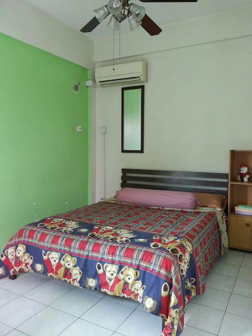 Double bed room with toilet attached