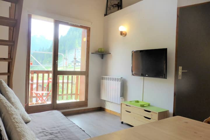 Apartment 4 persons center village close to the ski lifts