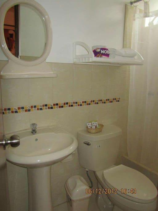 Baño de cuartos