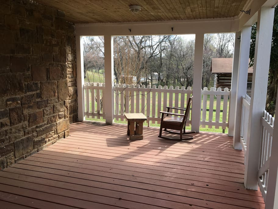 Covered porch.
