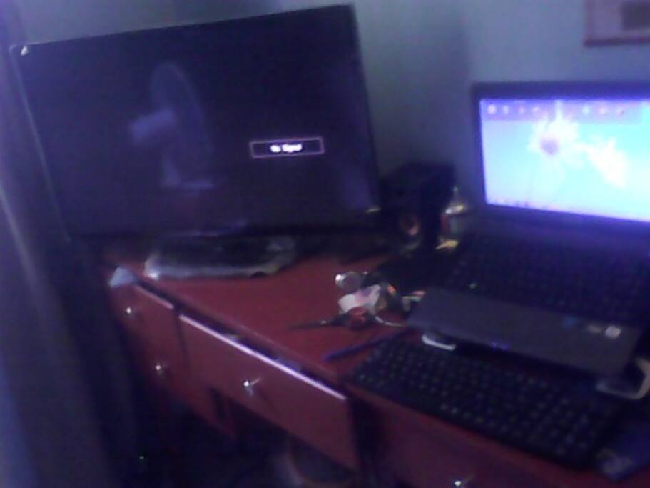 tv and laptop