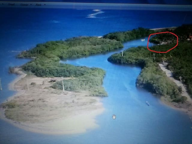 Encanto das Águas numa Ilha exótica de pescadores - Igrapiúna - Huis