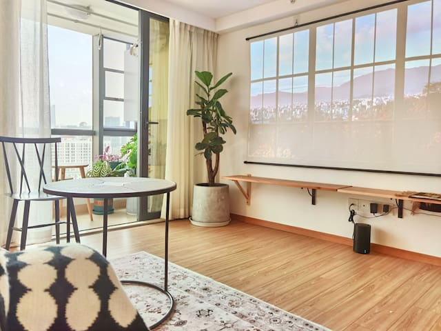 【Feb.】海伦loft·复式·生活便利·100寸投影·近西城时代