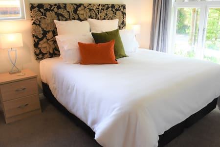 Master bedroom, upholstered bed head