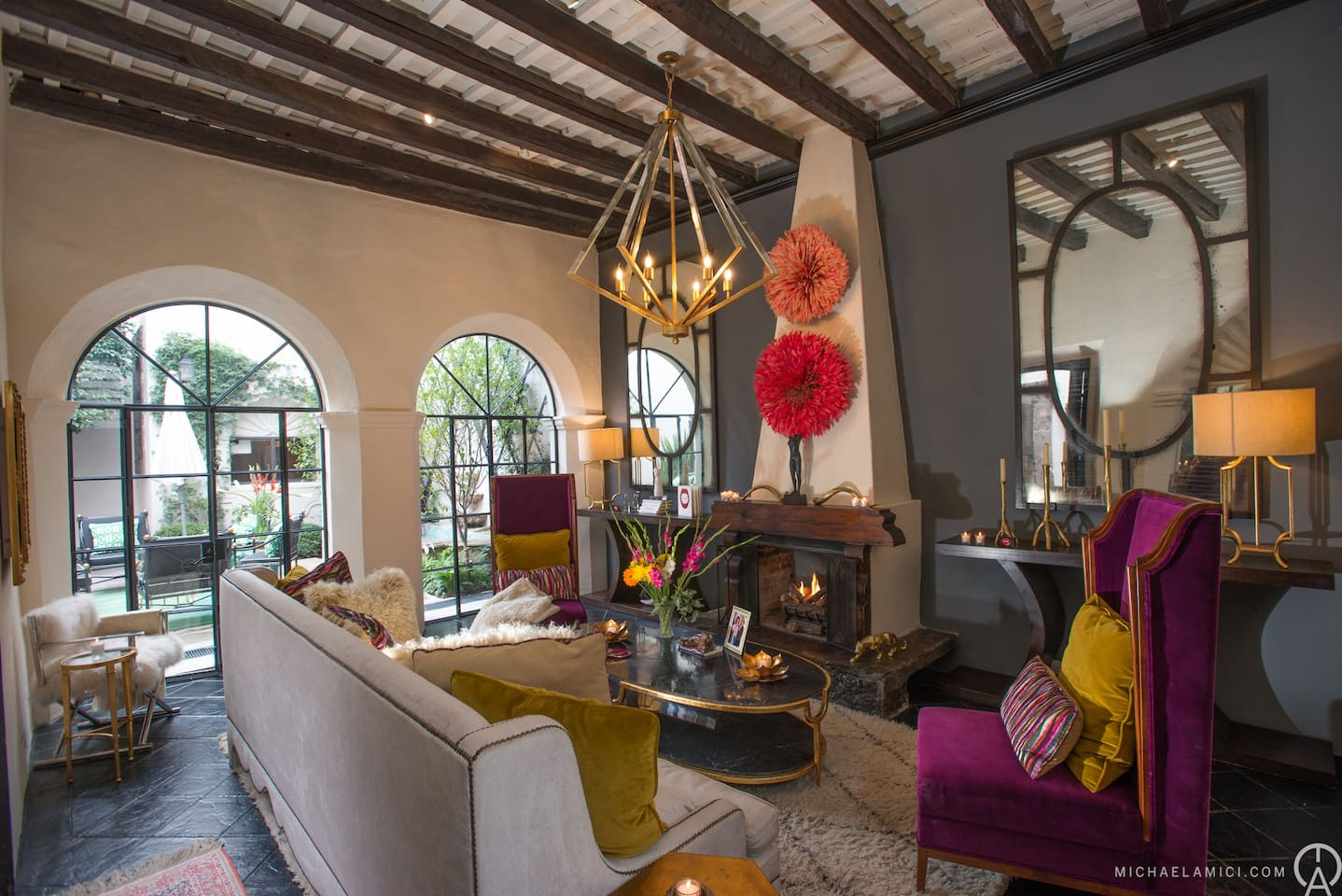 Snuggle Up or Celebrate in this Beautiful 300 Year Old Living Room!
