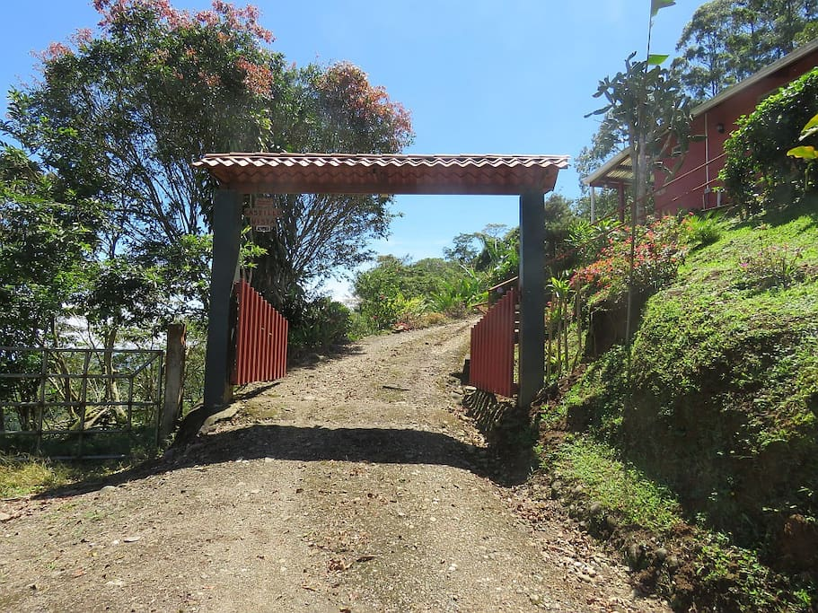 This is the entrance to a beautiful, quiet, and relaxing time in Costa Rica.