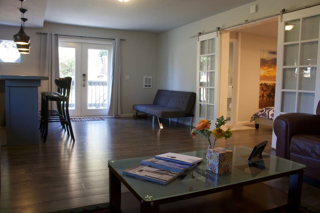 Large 1BD opens to a Spacious Living Room with a Private Deck