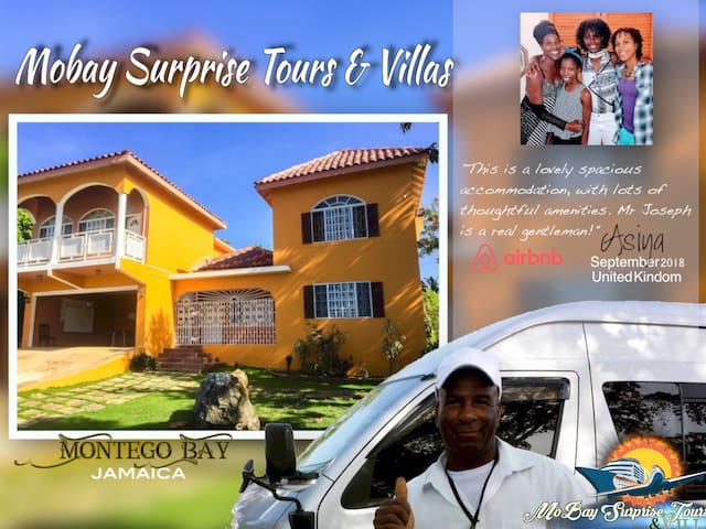 Mobay Surprise Tours & Villas (w/AC & Netflix)