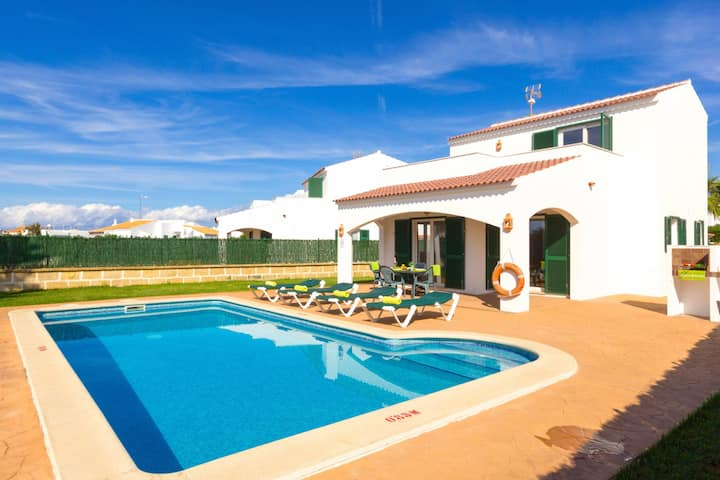 Villa Noa - House with pool in Cala'n Bosch in Menorca Spain