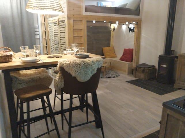 Chaleureux petit appartement de 4 couchages