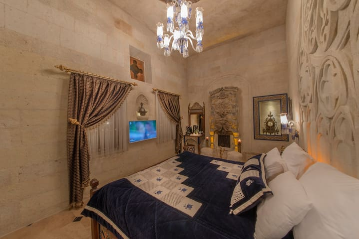 Deluxe Room (Fireplace, Hammam+Breakfast For 2) - Ortahisar - Boetiekhotel