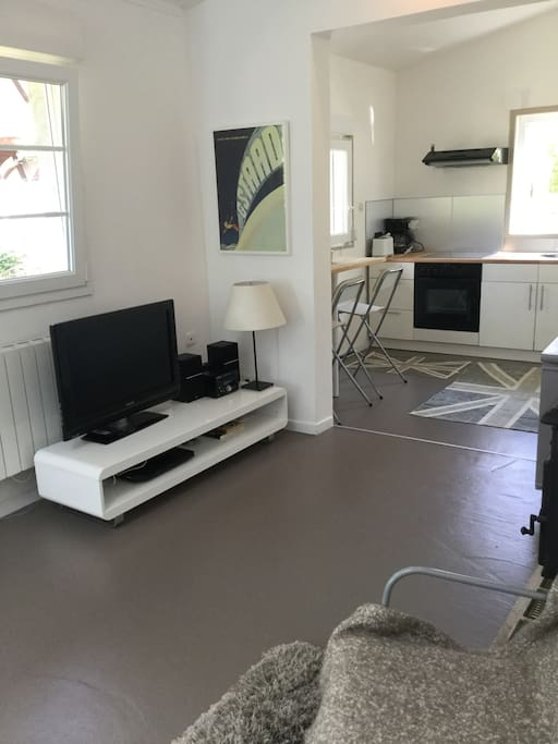 TV and stereo corner