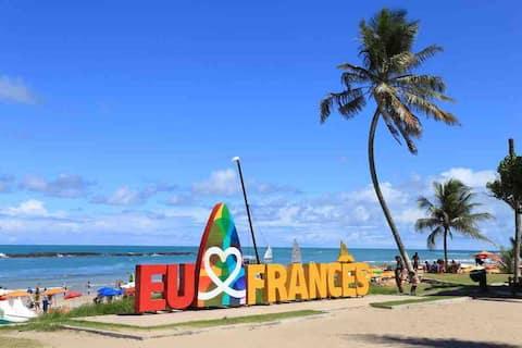 Confortável apto na paradisíaca  Praia do Francês