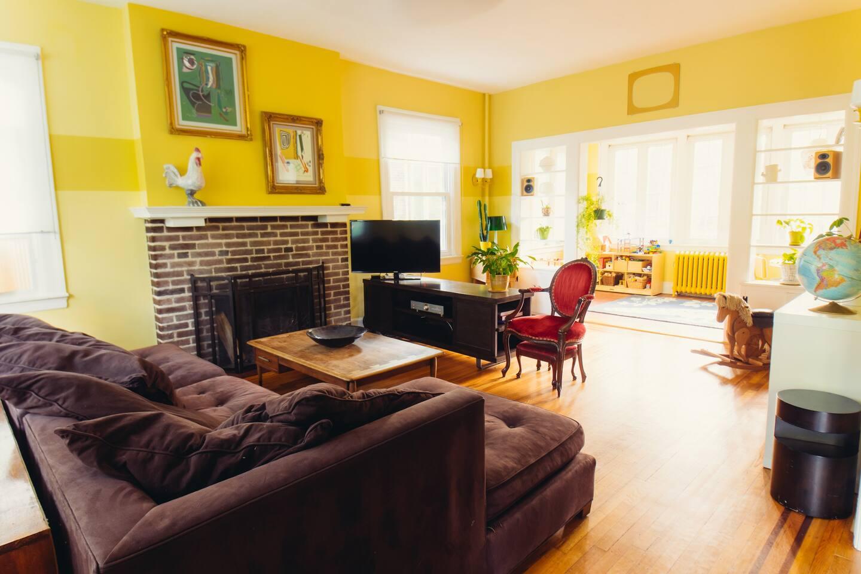 Living room and sunroom