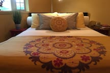 We love to spoil our guests with wonderful sheets and bedding