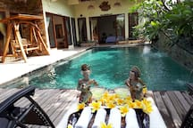 Our private pool, its yours to enjoy.
