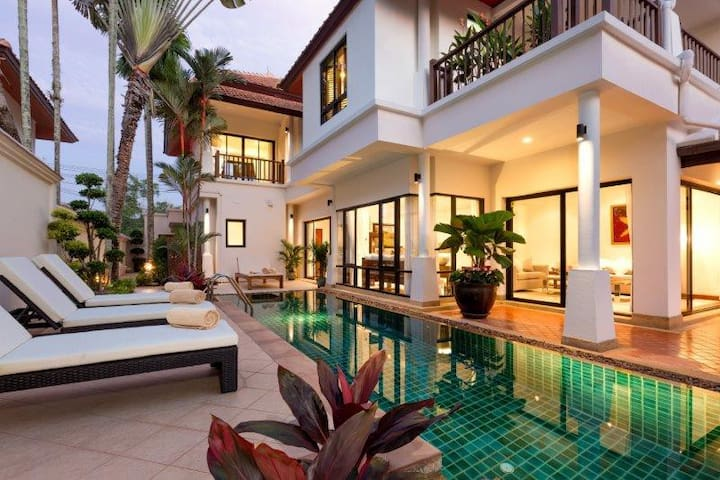 Oban Villa, Luxury 4 bedrooms - Choeng Thale - Casa de camp