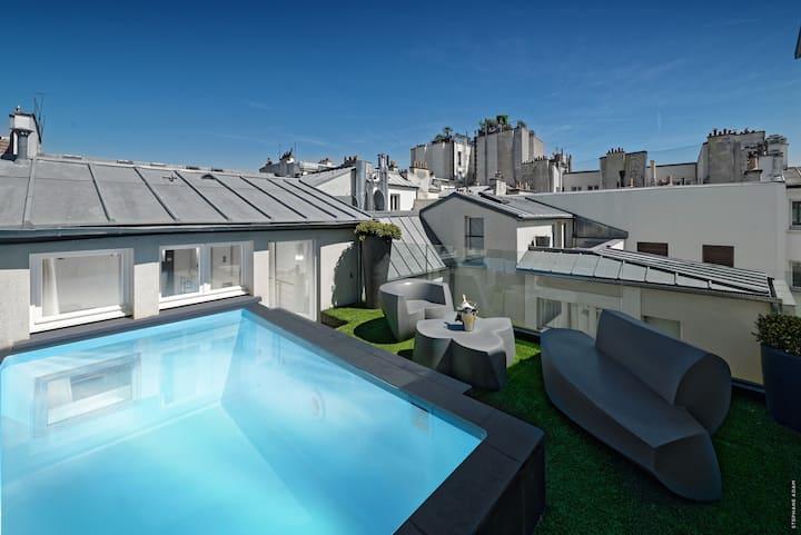 Private Pool Suite in Le Marais