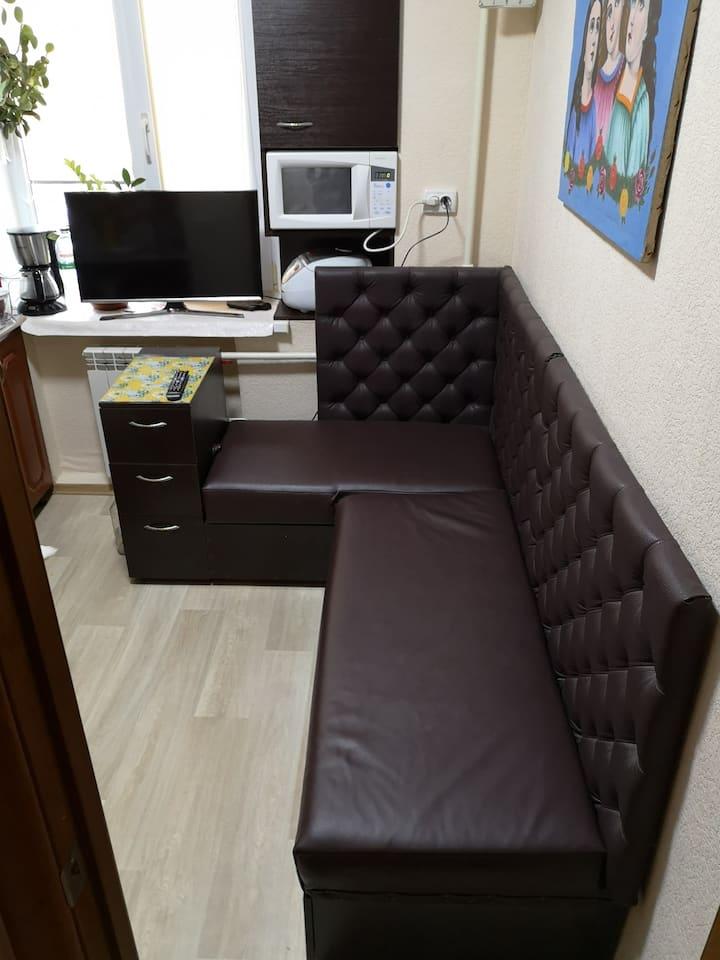 Уютная квартира в Борисполе, до метро ехать 15мин.