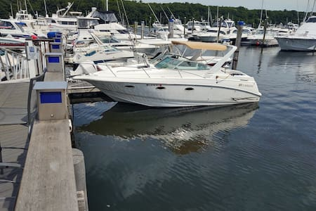 Docked Boat in East Greenwich Cove!