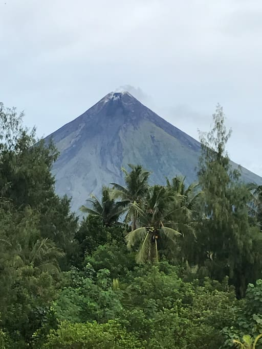 Mayon Volcano view from the beach.