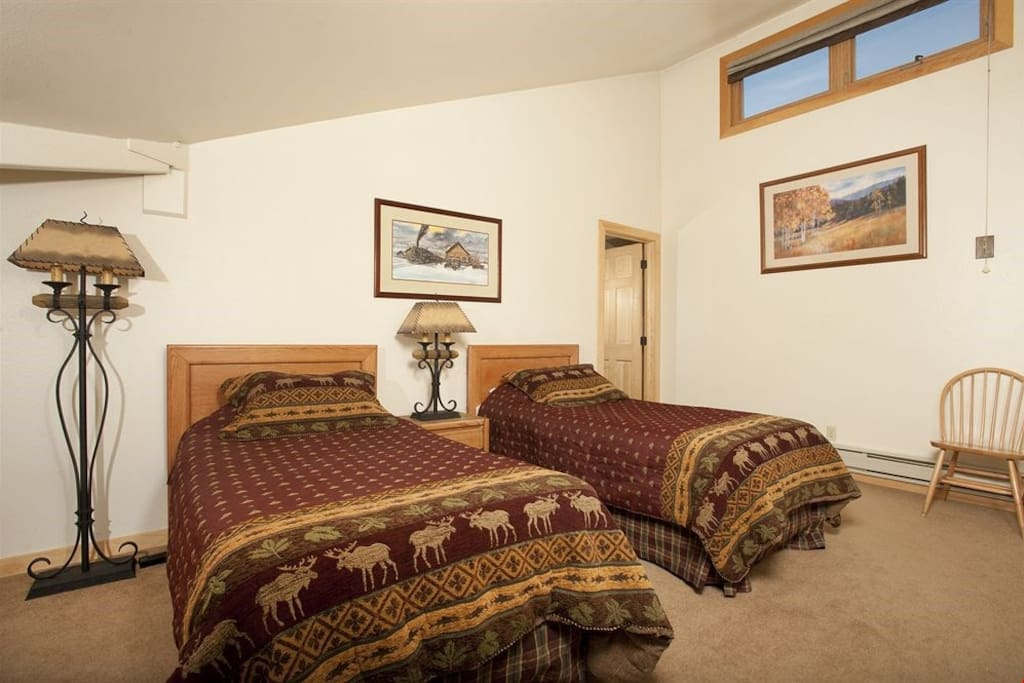 The second loft area bedroom provides additional bedding.