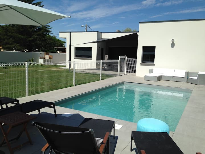 Villa Guiraudette Agde piscine proche mer *****