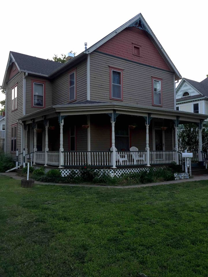 Front of Victorian House