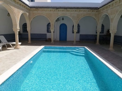 Typical houses (houche) with pool