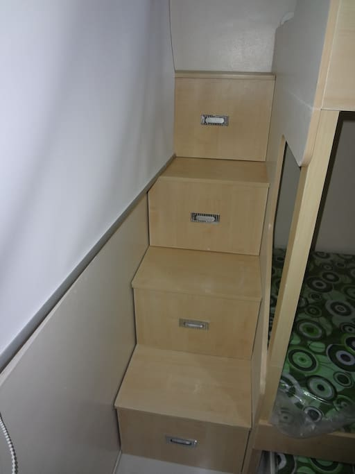 More storage by the bed