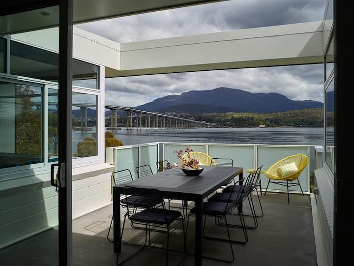 Luxury riverside home with stunning Hobart views
