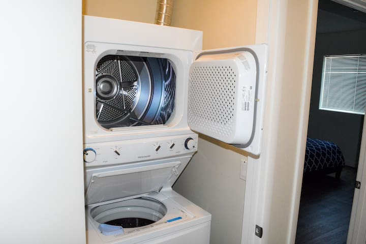 washer and dryer inside the apartment
