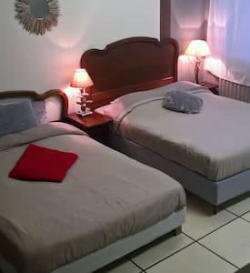 Chambre deux lits doubles 23m2 - Saint-Jean-de-Cornies - Casa