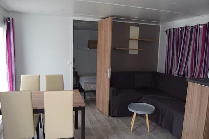 Camping des JC Mobilhomes neufs 2 chambres 2 sdb