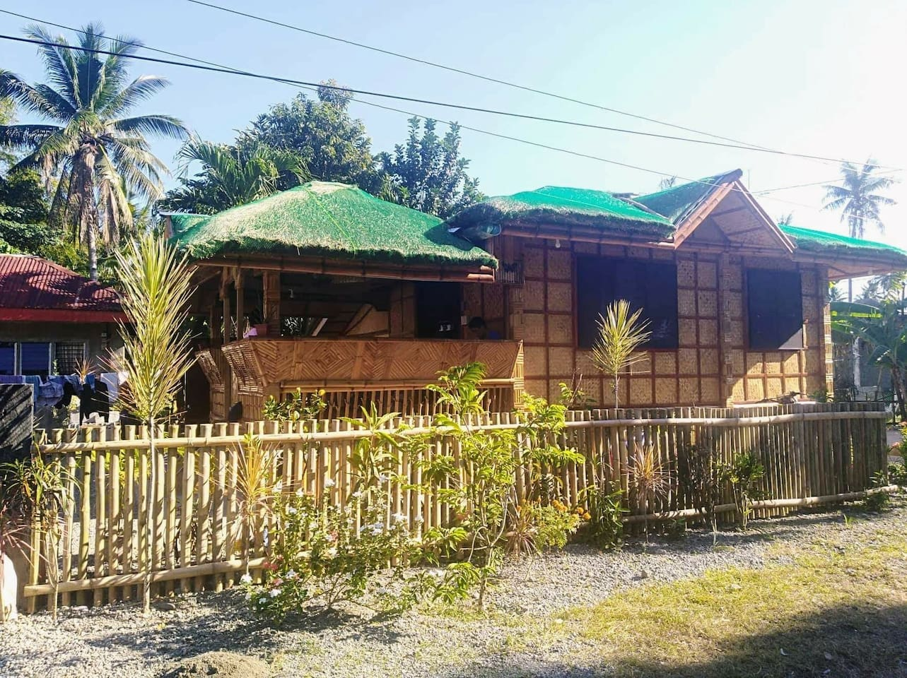 Our New House,  where we living! Now it's ready for your Holiday!  Original Philippine Kubo!