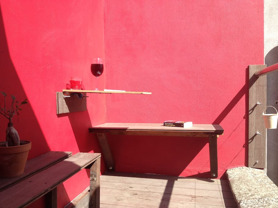 The roof terrace to share by everyone and great for having breakfast or a beer