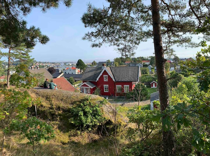 Idyllic traditional house on Husøy Island