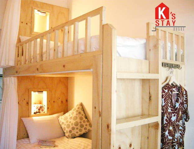 [K's Stay 3C]Hongdae_women only dorm_fancy beds
