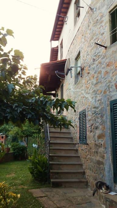 Casa a due piani circondata da verdi castagneti houses for Piani di casa con guest house annessa