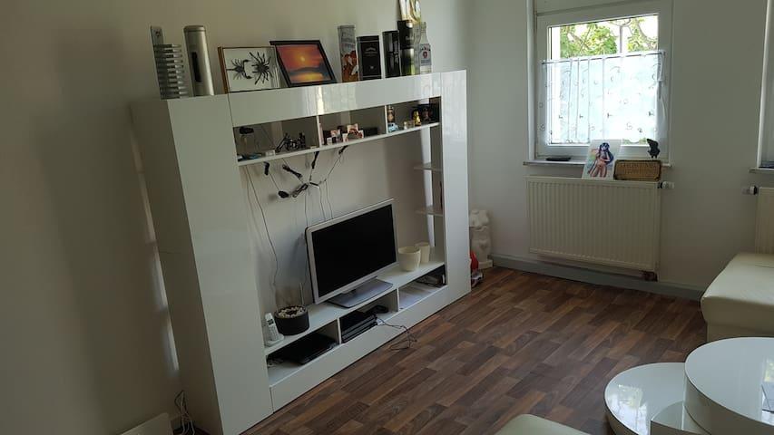 The white living room