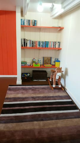 Book and kids play area...