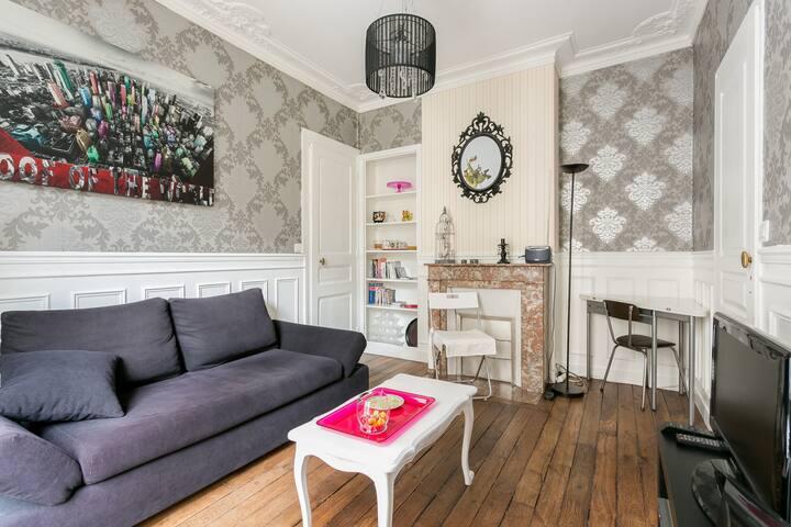 Central et joli appartement proche Tour Eiffel - Paris - Apartemen
