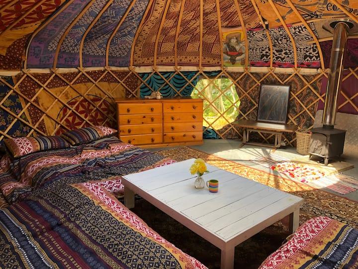Gert Yurt near durdle door in fantasy play garden