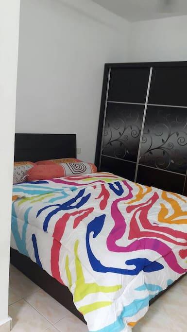 Room2 +ceiling fan+ dressing table & wardrobe